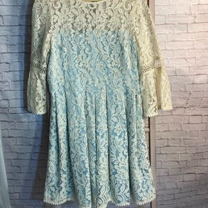💝 3/$75 Eliza J Lace Overlay Fit and Flare Dress
